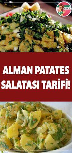 The post Alman patates salatası tarifi! German Potato Recipes, German Potatoes, Appetizer Salads, Healthy Salads, Food Presentation, Salad Recipes, Potato Salad, Food To Make, Easy Meals