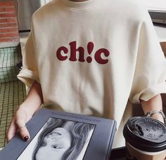clothes ~ t-shirt ~ street My T Shirt, Tee Shirts, Slogan Tshirt, Aesthetic T Shirts, Marca Personal, Statement Tees, Bikini, Cute Casual Outfits, Tee Design