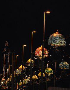 Blackpool at night, North West England