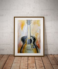 """Water Color Painting of """"Busted Melody"""" Reproduction Print of an original watercolor painting.    NOTE: Poster sizes are available, will take longer to process. Convo me for approximate processing time.   ~Frame is for Display purposes only        Thank you so much for your interest! 