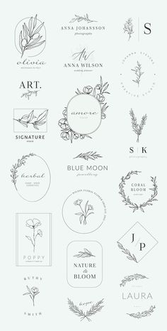 Botanische Logos & Illustrationen von Crocus Paper ist ein Kreativmarkt - #Botanische #Crocus #ein #Illustrationen #ist