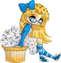 Very Vanilla Cupcake Girl by YamPuff.deviantart.com
