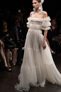 Off Shoulder Pretty Ivory Tulle Long Prom/Evening Dress Pageant Dress · Flosluna · Online Store Powered by Storenvy Pageant Dresses, Evening Dresses, Bridal Gowns, Wedding Gowns, Naeem Khan Bridal, Couture Fashion, Fashion Show, Look Formal, Beautiful Gowns