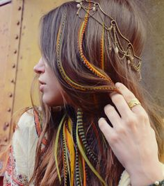 Of OLIVE my feathers - Feather Hair Extension