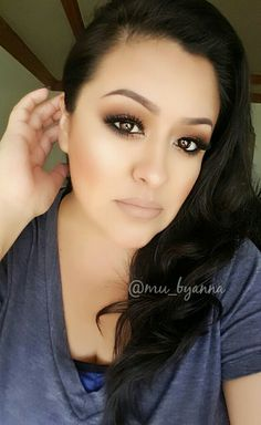 Warm soft smokey eyes using ZOEVA Caramel Palette