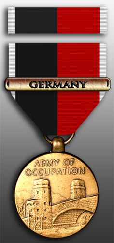 Army of Occupation Medal with Germany - With Berlin's unique legal status as an occupied territory left over from the days following the conclusion of the Second World War, members of the Berlin Brigade were authorized the Army of Occupation Medal with Germany clasp.