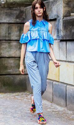 Zero-Effort Outfits to Wear When It's Hot Outside via @WhoWhatWearUK
