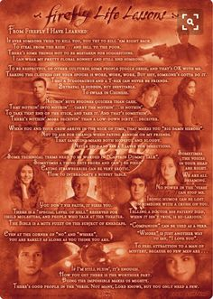 From Firefly I have learned...