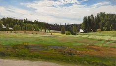 Fanny Churberg (1845-1892) Kesämaisema / Summer landscape 1879 - Finland Helene Schjerfbeck, Chur, National Gallery, Summer Landscape, Helsinki, Cool Landscapes, Gouache, Denmark, Norway
