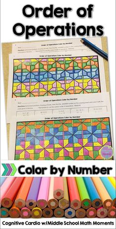 Try this self-checking color by number to help your math students practice using the order of operations! #math