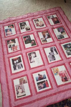 Put pictures in the quilt