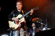 Jascha playing the guitar