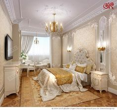 Фото 2015 года. Интерьер спальни в Фото квартиры в ЖК «Доминион»