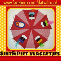 Sinterklaas & Zwarte Piet vlaggetjes