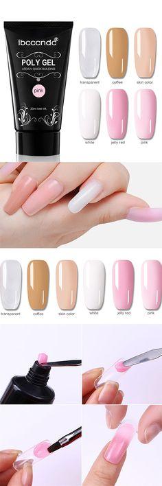 Poly Gel Extension Nail Gel Polish Crystal UV LED Builder Gel Nail Beauty Tip Nail Varnish Gel