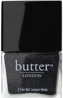 butter LONDON Nail Lacquer in Gobsmacked | Charcoal grey glitter $15