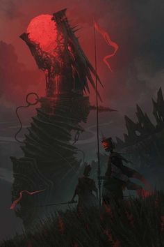 Fantasy Inspiration — The Sun Eaters by Alexey Egorov Dark Fantasy Art, Fantasy Kunst, Fantasy Artwork, Fantasy World, Dark Art, Dark Creatures, Mythical Creatures Art, Fantasy Dragon, Wow Art
