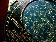 A black planisphere