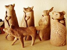 drying clay sculptures by DeniseFerragamo, via Flickr