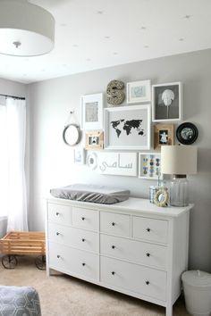 Cool, Neutral Hamptons Inspired Nursery // Baby Nursery Inspiration // Gender Neutral Nursery Inspiration