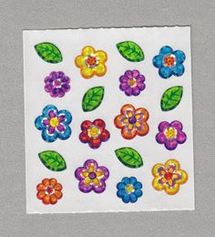 Sandylion+Flowers+Stickers+Rare+Vintage+PM564