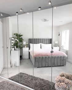 The way you decorate your home is somehow similar to choosing beautiful clothes to wear on a daily basis. An impressive interior decoration of your home or office is essential for your own state of mind, if nothing else. Room Ideas Bedroom, Home Decor Bedroom, Bedroom Interiors, Decor Room, Bedroom Bed, Bedroom Inspo, Wardrobe Design Bedroom, Grey Bedroom Design, Aesthetic Room Decor