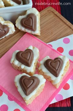 White Chocolate Reese's Krispie Hearts