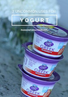 7 Uncommon Uses for Yogurt! Number 1 will shock you!! Great DIY Tips and Ideas!