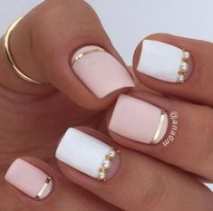 Ideas for summer nail art pink gold strass nixia me sxedia kalokairina