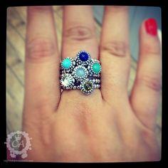 "Pandora - 6 stack birthstone rings. {What a stylish ""Mother's Ring!"" -PandoraMOA}"