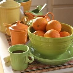 Fiesta Citrus combo....Love the colors of the cannisters!!!