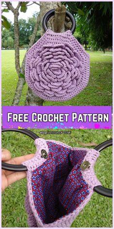 Crochet Bag In Blossom Handbag Free Crochet Pattern