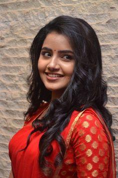 Anupama_Parameswaran_Hot in_Red_Saree (5)