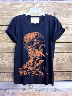 Van Gogh Skull Tshirt by MogwaiClubUSA on Etsy, $20.00