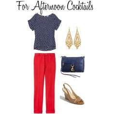 Cocktails anytime but this outfit is too adorable...Polka Dot for Afternoon Cocktails, created by caphillstyle on Polyvore