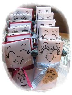 snowman chocolate packages