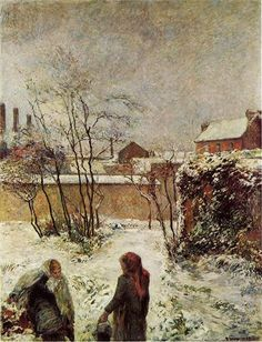 The garden in winter, rue Carcel, 1883 - Paul Gauguin - WikiArt.org