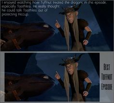 "This episode held so many treasures. The ""awkwardness"" between Dagur and Hiccup (including the amazing battle scene), Snotlout's composure, Astrid's ferocity, but what I found the most interesting, as to my opinion of the best plot filler we have seen in this series, was Tuffnut's moments of dragon responsibility. He surprises me with his knowledge sometimes. I'm beginning to think he's marginally smarter than his sister."
