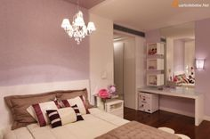 decoracao quarto infantil roxo