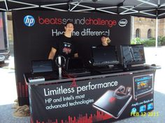 Portable counter with MDF top for HP and Beat's brand activation campaign.