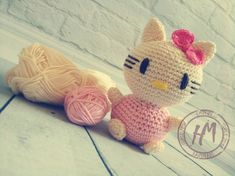 Your place to buy and sell all things handmade Knitted Dolls, Hand Knitting, Hello Kitty, Dinosaur Stuffed Animal, Awesome, How To Make, Handmade, Stuff To Buy, Etsy