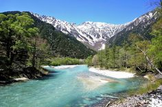 Kamikochi, a valley in Hida mountains in Japan. It is a 15 kilometer long plateau in the Azusa River Valley, about 1500 meters above sea level surrounded by mountains with 3000 meter high peaks. The forests are preserved in a natural state.