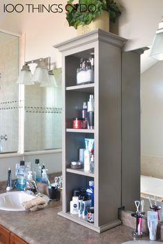 Bathroom Storage Tower Vanity Cabinet On