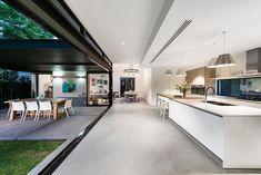 41 Keightley Road Shenton Park WA 6008 - House for Sale Outdoor Kitchen Design, Modern Kitchen Design, Modern House Design, Open Plan Kitchen Living Room, Open Kitchen, Küchen Design, Home Interior Design, Kitchen Interior, Home Kitchens