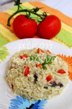 μικρή κουζίνα: Ριζότο με λαχανικά Greek Recipes, Rice, Vegetables, Ethnic Recipes, Food, Recipies, Essen, Greek Food Recipes, Vegetable Recipes
