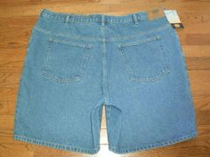 NEW! BIG MENS sz 48 ROUTE 66 blue DENIM JEANS SHORTS relaxed fit NWT!