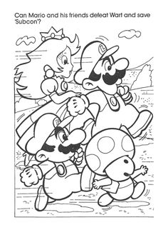 Super Mario Swimming Underwater Coloring Page | Fun Coloring Pages ...