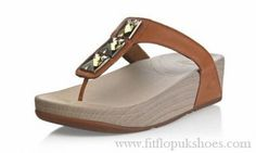Womens Fitflop Pietra Toning Brown Sandals