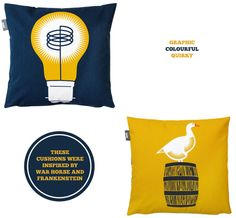 NEED these National Theatre Mini Modern cushions in my life x
