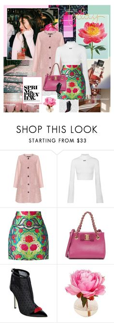 """""""Waiting for Spring"""" by rainie-minnie ❤ liked on Polyvore featuring Oris, Twister, Off-White, Gucci, Salvatore Ferragamo, Giannico and The French Bee"""